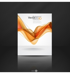 Abstract Orange Smooth Waves vector image