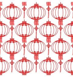 Chinese lantern seamless vector image