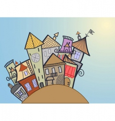 concept medieval town vector image vector image
