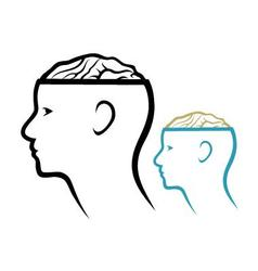 Head and Brain vector image vector image