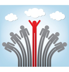 success and teamwork vector image vector image