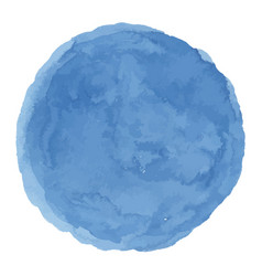 delicate dark blue watercolor painted stain vector image vector image