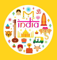 india travel attraction vector image vector image