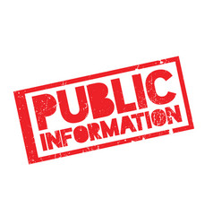 Public information rubber stamp vector