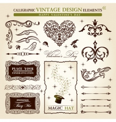vintage calligraphy vector image vector image