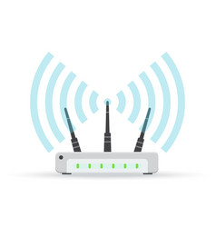 wireless ethernet modem router sign vector image