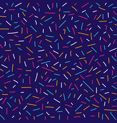 Abstract colorful lines pattern memphis retro vector