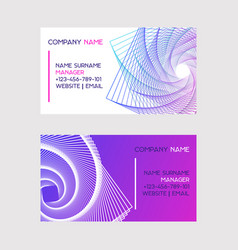 abstract design set business cards vector image