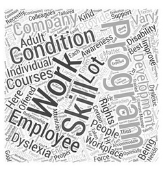 Adult Dyslexia Awareness Courses For The Work vector