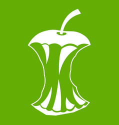 Apple core icon green vector