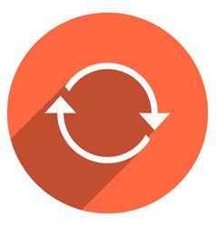 arrow sign refresh icon circle button vector image