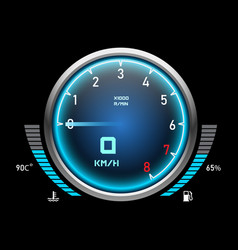 Auto speedometer or car tachometer motorcycle vector