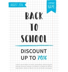 Back to school Discount banner vector