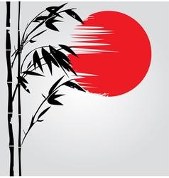 bamboo sun vector image