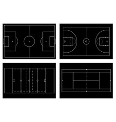 basketball court tennis court american football vector image