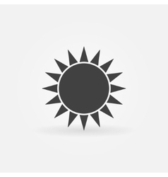 Black sun logo or icon vector image