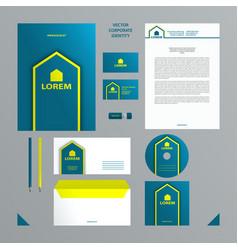 blue and lemon color branding set vector image