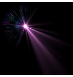 Blue flare vector