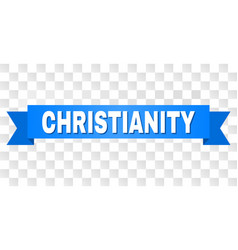 Blue stripe with christianity caption vector