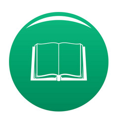 Book deployed icon green vector