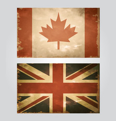 British flag old vector
