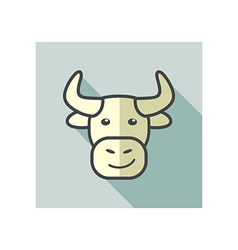 Bull icon Farm animal vector image