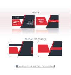 Business card template one-to-one dimensions for vector