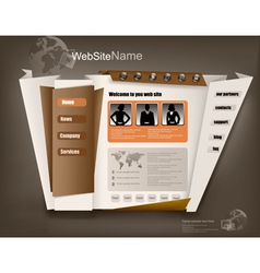 Business website design template vector