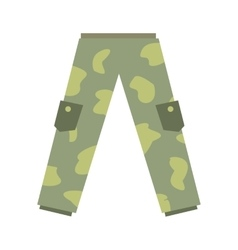 Camouflage trousers flat icon vector