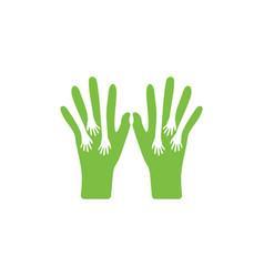 Care hand charity negative space design decor vector
