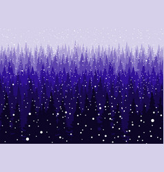 christmas snowy winter forest background vector image