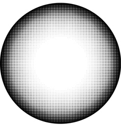 Circle icon in graphical black and white gradient vector