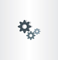 Cogs icon gears symbol design element vector