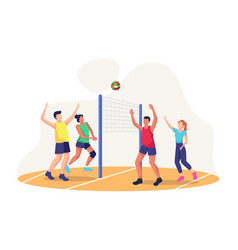 Concept playing volleyball vector