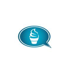 Creamy cupcake kuchen for logo design muffin in vector
