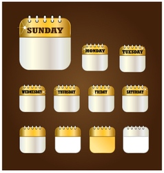 Days label design element vector
