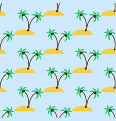 Desert island pattern vector