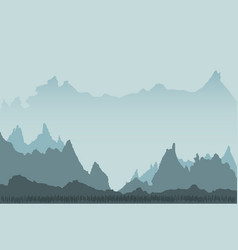 design of beautiful mountainous landscape vector image