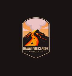 Emblem logo hawaii volcanoes national park vector