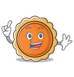 Finger pumpkin pie character cartoon vector