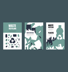 Garbage poster waste separation and recycling vector