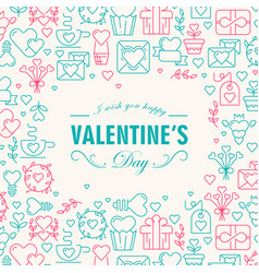 greeting valentines day decorative card vector image