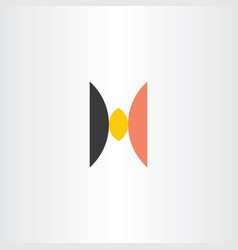 h logo black orange yellow icon symbol vector image