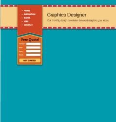 header website vector image vector image