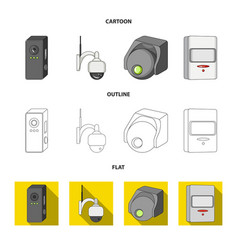 Isolated object of cctv and camera sign vector
