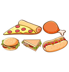 Isolated set food vector