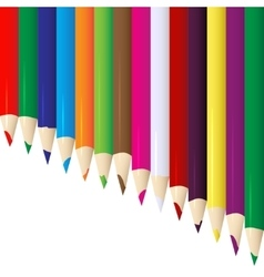 Line of colored pencils vector image