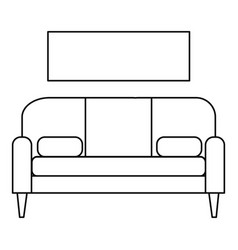 Living room sofa icon outline style vector