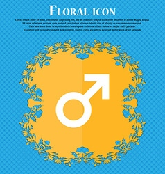 Male sex Floral flat design on a blue abstract vector