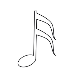 Musical note melody symbol outline vector